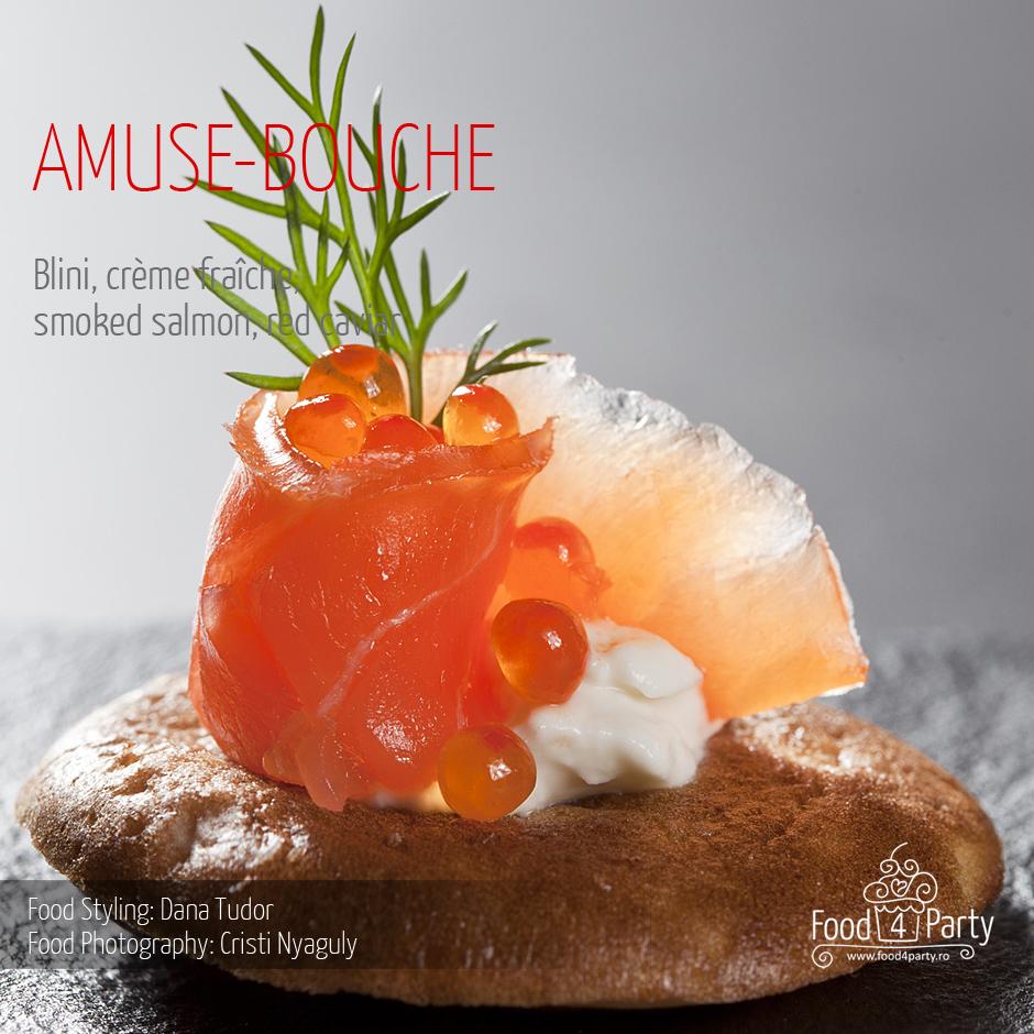 Food for Party - Blini - design de aperitiv