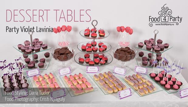 Violet Lavinia Dessert Table