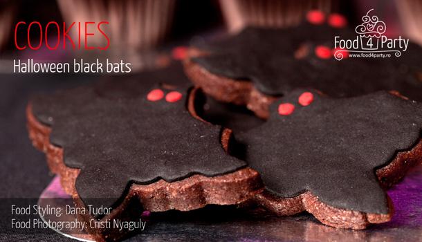 Cookies Halloween Black Bats