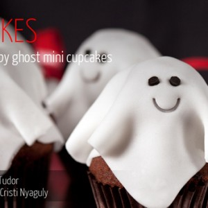 Halloween Baby Ghost Mini Cupcakes