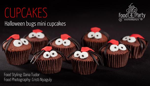 Halloween Bugs Mini Cupcakes