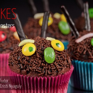 Halloween Monsters Cupcakes