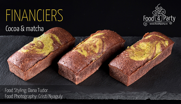 Financiers Cocoa Matcha