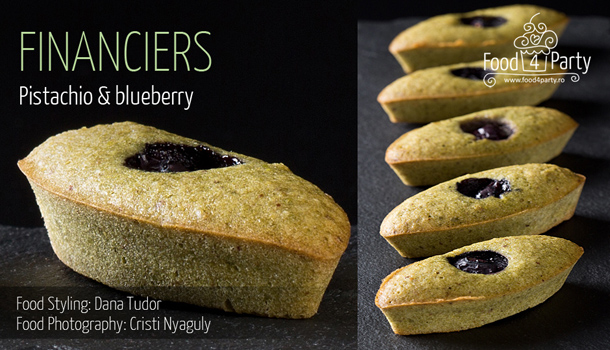 Financiers Pistachio Blueberry