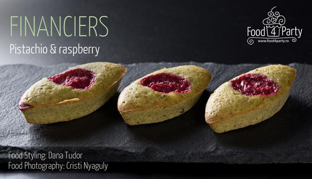 Financiers Pistachio Raspberry