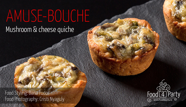 Quiche Mushroom and Cheese